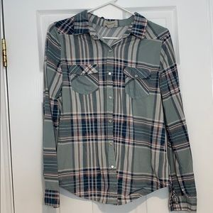 Light green and blue flannel!